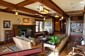 Arts And Crafts Living Room by Craftsman Inspired Residence Projects Ward Young Architecture