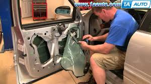 how to install repair replace broken power front window regulator