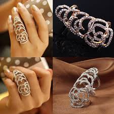 buy fashion rings images Wholesale new personalized fashion jewelry hollow metal rhinesone jpg