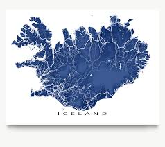 Artistic World Map by Iceland Map Print Iceland Poster Map Art Print