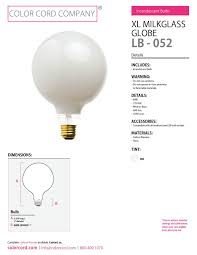light bulbs color cord company