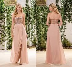 gold bridesmaid dresses gold sequind bridesmaid dresses side split a line