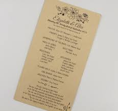 wedding ceremony program whimsical floral script wedding ceremony program on kraft paper