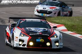 lexus lfa racing gallery gazoo lf a gt86 at nürburgring 24h motormavens car
