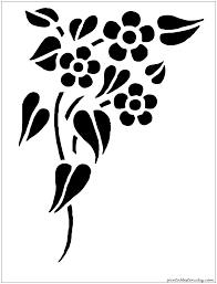 flower stencils decorating from the stencil studio funky
