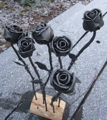 metal roses forged steel roses so that s cool