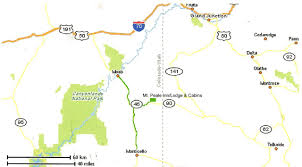 Map Quest Direction Moab Lodging Accommodations At La Sal Mountain Cabins Lodging