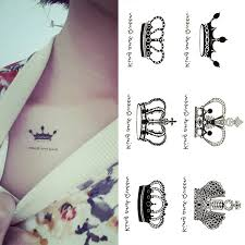promotion creative design queen king crown temporary tattoos arm