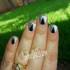amber did it monochromatic gel polish nail art
