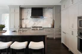 Light Gray Kitchen Cabinets With Charcoal Gray Quartz Countertops