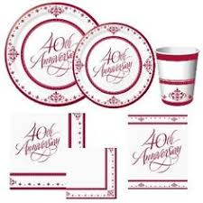 40th anniversary plates 5 innovative 40th wedding anniversary ideas our 40th is this