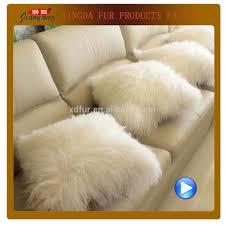 Mongolian Lamb Cushion Mongolian Lamb Fur Pillow Mongolian Lamb Fur Pillow Suppliers And