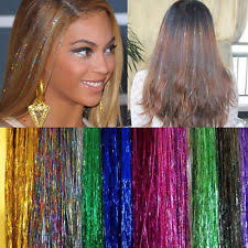 sparkly hair tinsel hair extensions ebay