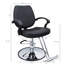 Salon Furniture Warehouse In Los Angeles Classic Hydraulic Barber Chair Salon Beauty Spa Hair Styling Black