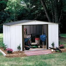 Backyard Storage House Arrow Sr68109 10 U0027 X 9 U0027 Gable Steel Storage Shed White
