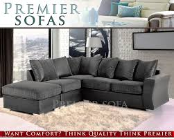 Black Corner Sofas Brand New Arran Jumbo Cord Corner Sofa 3 2 Seater Swivel