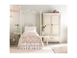White Metal Canopy Bed by Magnolia Home By Joanna Gaines French Inspired Full Garden Gate