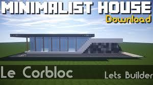 Maison Modern Minecraft by Minecraft Maison Minimaliste Download Youtube