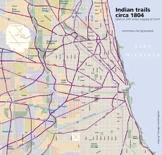 Chicago Trains Map by Chicago In Maps