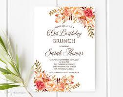birthday brunch invitation birthday brunch etsy