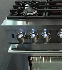 Kitchen Stove Knobs Blomberg Bgrp34520ss 30 Inch Pro Gas Range With Convection Power