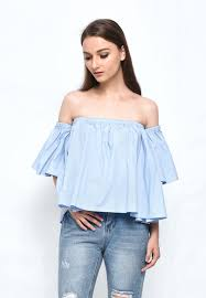 baby blue blouse will sabrina top baby blue look boutique