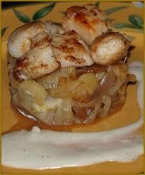cuisiner noix jacques noix de jacques et fenouil confit au noilly prat recette