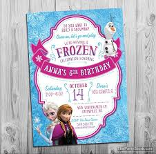 frozen birthday party invitation printable frozen invite