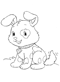 pet animal cute puppy coloring pages womanmate com