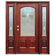Wooden Exterior French Doors by Pacific Entries 68 In X 80 In Diablo Craftsman 1 Lite Stained