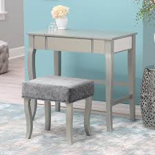 Silver Bedroom Vanity Home Styles Naples Bedroom Vanity Table White Hayneedle