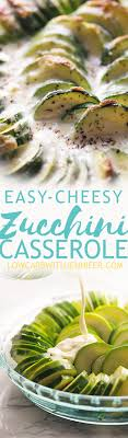 baked zucchini casserole is slices of zucchini doused in a