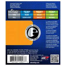 elixir e12027 nanoweb custom light strings 9 46 at gear4music