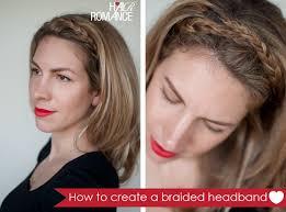 hairstyle tutorial easy braided headband hair romance