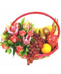 fruit and flower basket f06 fruits flowers basket sameday flower delivery to malaysia