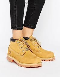 womens flat boots canada wheat nubuck shoes timberland nellie chukka lace up