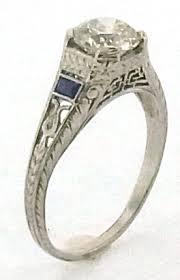 art deco diamond u0026 sapphire platinum ring