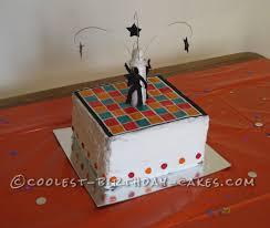groovy disco dance floor cake