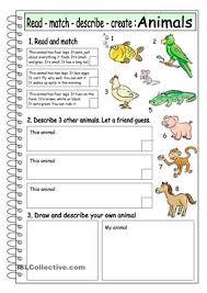 multi skill worksheet for elementary learners practising reading