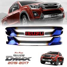 isuzu dmax 2015 red logo titanium chrome front grill grille all new isuzu dmax d