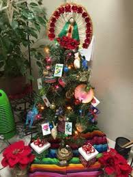 tree with tons of mexican decorations
