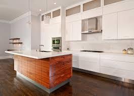 white and wood cabinets walnut kitchen cabinets modern silver stove modern cabinet island