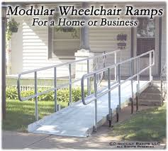 pvi modular xp aluminum wheelchair ramp with handrails 100 lb