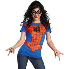 halloween t shirts for girls spider women u0027s halloween costume walmart com