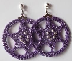 hoop la earrings gossamer tangles hoop la two patterns for crocheted drop hoop