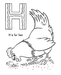 h is for hen alphabet coloring pages printable alphabet coloring