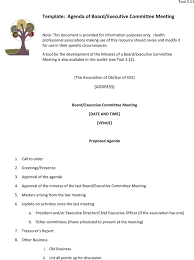 download executive meeting agenda template for free tidyform