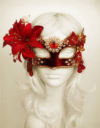 Masquerade Ball Halloween Costumes Burgundy Red U0026 Gold Masquerade Mask Withvarious Soffitta