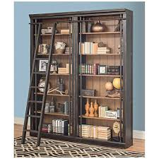 6 Bookcase Toulouse Aged Ebony 6 Shelf Home Library 2 Bookcase Wall 9x921