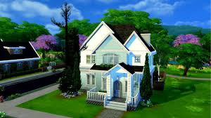 themed house the sims 4 speed build not so berry mint themed house